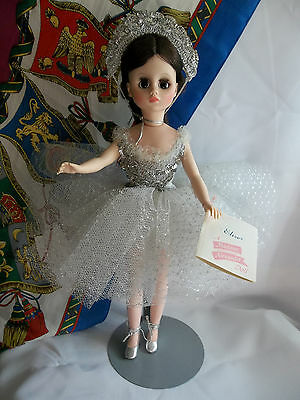 "FINE Alexander ELISE Ballerina Doll Plastic 17"" White/ Silver Outfit, Paper Tag"