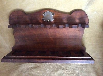 Vintage/ Collectable Wooden Pipe Holder / Stand / Rack