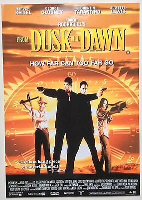 From Dawn Till Dusk / Original Vintage Video Film Poster / Quentin Tarantino 5