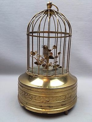 Working Antique KARL GRIESBAUM TM SINGING BIRD CAGE AUTOMATON MUSIC BOX video