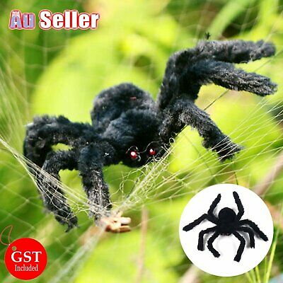 30cm Fake Black Spider Halloween Large Huge Giant Spooky Scary Decoration Party