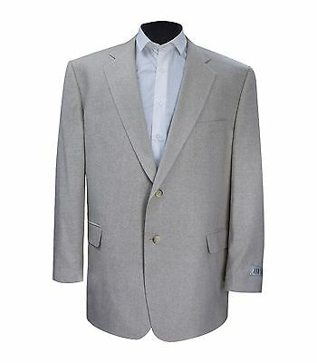 New Versini Men's Beige Linen Sport Coat Blazer Jacket (King Size 46-60)