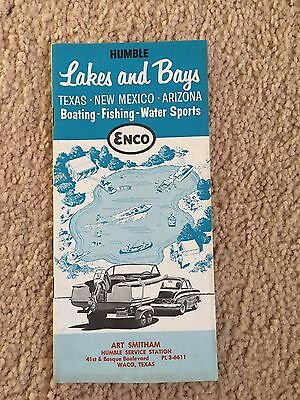 "Vintage 1961 ""lakes And Bays "" Texas,new Mexico, Arizona-Boating, Fishing,sports"