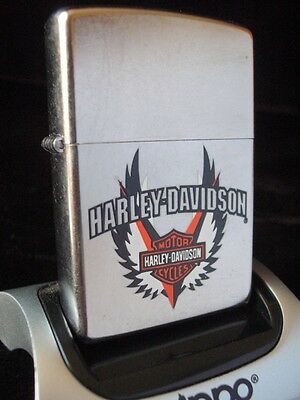 Zippo Harley Davidson Motorcycles Logo Shield Collector Lighter Nib 08