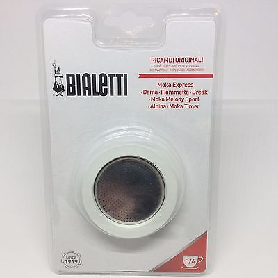 Bialetti Gasket & Filter Replacement 0800003- Fits 3+4 Cup Moka Express