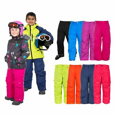 Trespass Contamines Kids Detachable Braces Waterproof Ski Pants for Boys Girls