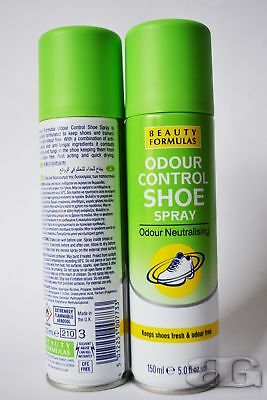 Beauty Formulas Shoe Odour Control Spray Neutralizing Antibacterial Antifungal