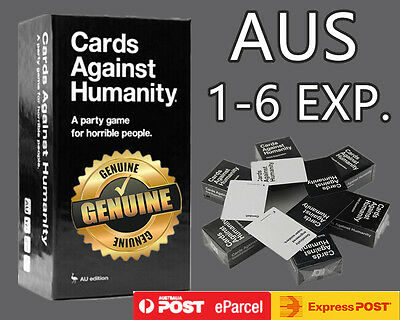 Express Ship Post Cards Against Humanity V1.7 AU Main Set + 123456 Expansions