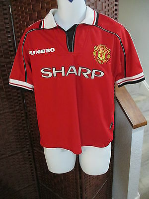 Umbro Manchester United Soccer Jersey Youth XL England Football