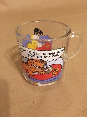 Vintage Garfield Odie Mcdonald's Glass Mug Jim Davis
