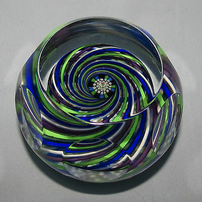 John Deacons Scotland Paperweight Facetted Scottish Swirl
