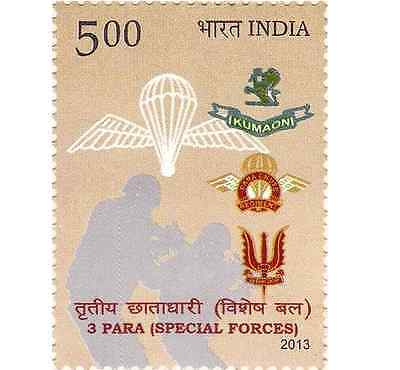 INDIA Indien Inde Special Police Forces Marine Parachute MNH NEW 2013