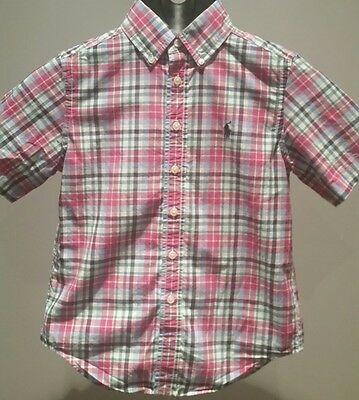 Ralph Lauren Polo Boys Button up Short Sleeve Shirt Size 8