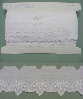 Broderie Anglaise Flat Lace White (1894) x 10 meters