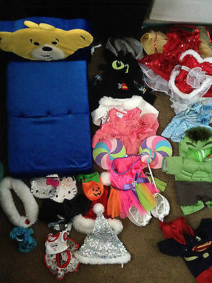 Build A Bear Clothes LOT! Plus A Bed Sleeping Bag