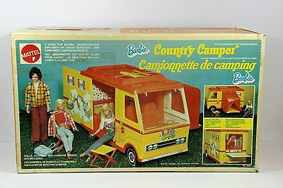 Vintage 1972 Mattel Barbie Country Camper with rare canadian box very good