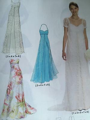 McCalls Sewing Pattern 6030 Misses Wedding Evening Lined Dress Size 6-14 New