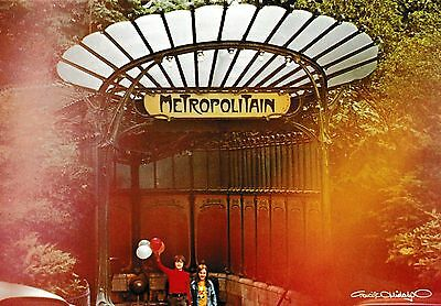 postcard post card PARIS France Porte Dauphine metro #11