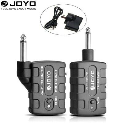 JOYO JW-01 Guitar Bass Wireless 2.4Ghz Audio Transmitter Receiver Kit AU PLUG