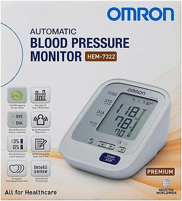 Omron Hem7322 Premium Upper Arm Blood Pressure Monitor