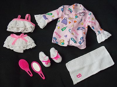 1997 - Barbie Doll - Fashion Ave - Lingerie - Eyelet - Slippers, Towel & More