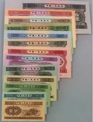 Full Set of Second Series China Yuan Specimen Banknotes