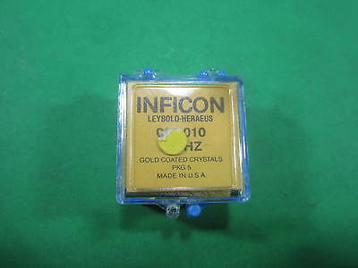 Inficon 6 MHz Gold Coated Crystals 10 Each -- 008-010 -- New