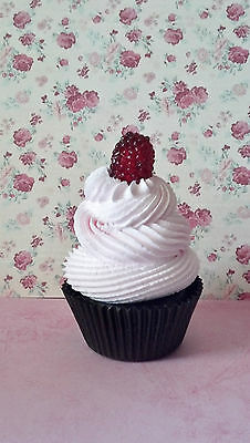 Raspberry Fake Cupcake Photo House Staging Prop and Party Decorations
