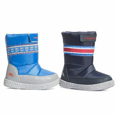 Trespass  Alfred Waterproof Boys Snow Boots in Navy & Blue