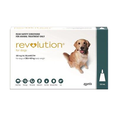 Revolution Flea Control for Dogs 20.1-40kg Teal