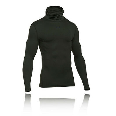 Under Armour Cg Armour Hombre Verde Compresi?n Sudadera Running Capucha Top