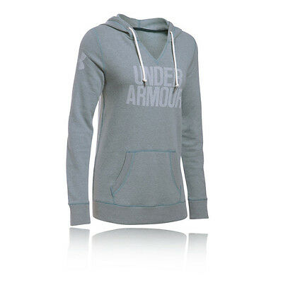 Under Armour Favorite Mujer Verde Sudadera Mangas Largas Blusa Capucha Top