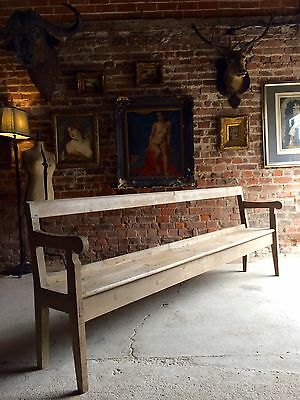 Stunning Antique French Pine Bench Pew Pine Rustic Farmhouse Victorian Large
