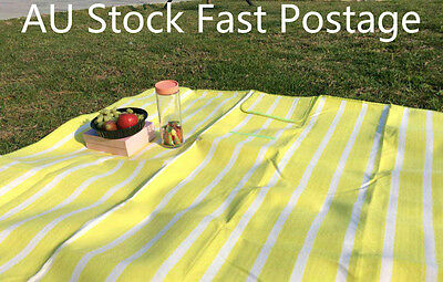 Stripe Picnic Rug Blanket for Camping, Beach & Festival. Water Resistant Padding