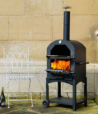 Outdoor Traditional Pizza Smoker Oven Steel Alfresco BBQ Grill