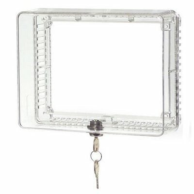 Universal Honeywell Locking Thermostat Cover Medium Anti Tamper Clear Guard New