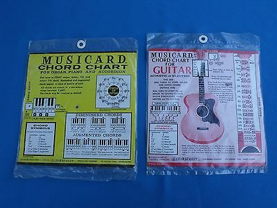 NOS Vintage Musicard Cord Chart Case Candy Guitar / Keyboard 1965 / 1967