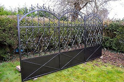 Original Late Victorian Wrought Iron Estate Gate - Hand Forged!