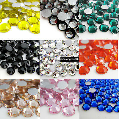 1440p non hotfix crystal flatback 3d nail art rhinestones tips strass decoration
