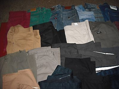 Job Lot of 50 pairs mens Jeans-Trousers-Cargo & denim Shorts