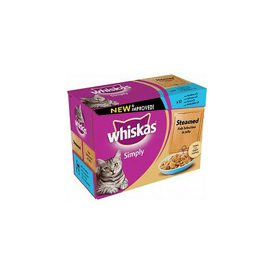 Whiskas Pouch Simply Steamed Fish 12x85g x 4