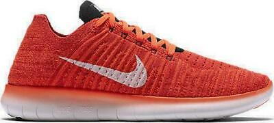 outlet store 026c8 5450f Mens NIKE FREE RN FLYKNIT Crmsn Textile Running Trainers 831069 601 RRP  £109.99