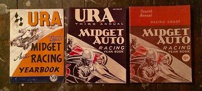 1945 / 1946 / 1947 U.R.A. Midget Auto Racing Yearbooks