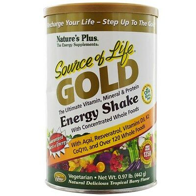 Nature's Plus, Source of Life Gold, Energy Shake, Tropical Berry Flavor, .97 lb