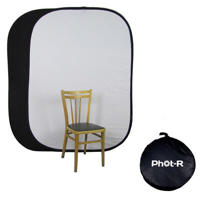 PhotR Studio 100% Muslin Cotton Pop Up Backdrop Background Black White Screen