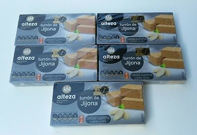 Alteza Spanish Turron de Jijona x 5 or Turron de Alicante x 5 UK Stock