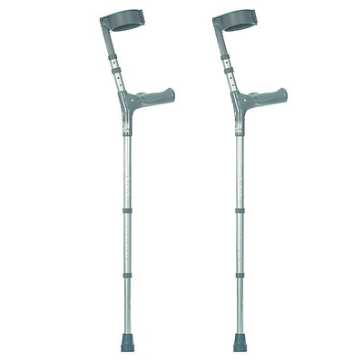 NRS Healthcare Double Adjustable Crutches with Comfy Handle, Long/Tall - Pair