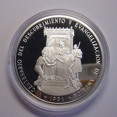Dominican 100 Pesos 1991 Silver 5oz Columbus Discover only 1500 minted