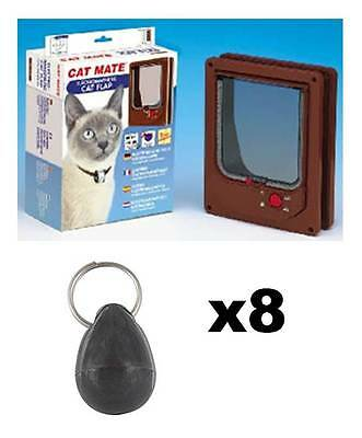 Pet Mate 254b Cat Mate Electromagnetic Pet Cat Door 4 Way Locking with 8 magnets