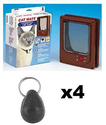 Pet Mate 254b Cat Mate Electromagnetic Pet Cat Door 4 Way Locking with 4 magnets